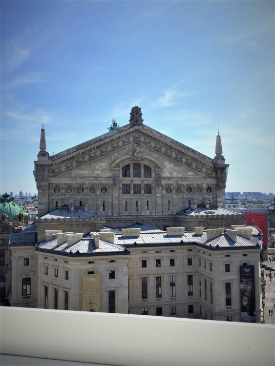 Vista para a Opéra Garnier - rooftop Galeries Lafayette.