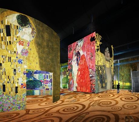 Atelier des Lumières - exposição imersiva Gustav Klimt - foto atelier-lumieres.com