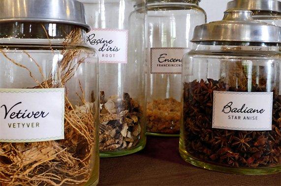 Ingredientes usados nos perfumes da Molinard