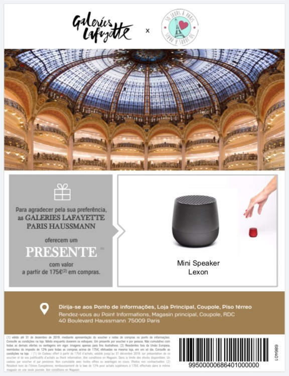 Voucher_175_Benefícios_Galeries_Lafayette_30_Joursaparis_2019